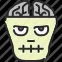 brain, dead, frankenstein, halloween, lobotomy, zombie