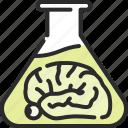 bottle, brain, danger, death, mixture, poison, potion icon