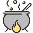 cauldron, halloween, poison, pot, sorcery, witchcraft icon
