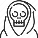 dead, death, evil, halloween, monster, skull icon