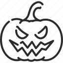 creepy, fear, halloween, jack o lantern, monster, pumpkin, spooky icon