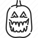 creepy, halloween, horror, jack o lantern, monster, pumpkin, spooky icon