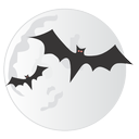 bats, halloween, moon, spooky icon