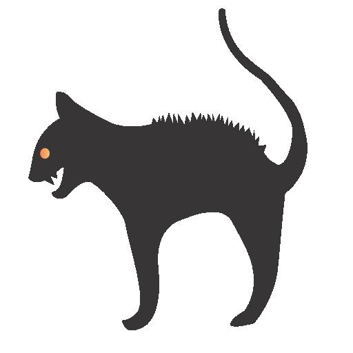 cat, hallloween icon