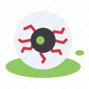 blood, eye, ghost, halloween, scary, sight icon