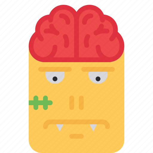 brain, character, frankenstein, halloween, monster, scary, zombie icon