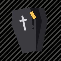 coffin, cross, death, halloween, hand, mummy, zombie icon