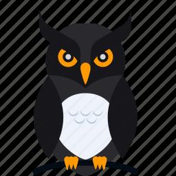 animal, bird, dark, halloween, night, owl, scary icon