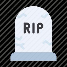 death, funeral, grave, gravestone, halloween, rip icon