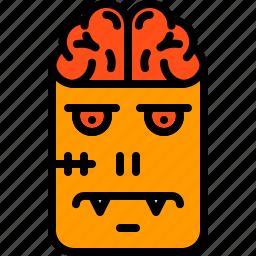 brain, character, frankenstein, halloween, monster, scary, zombie icon