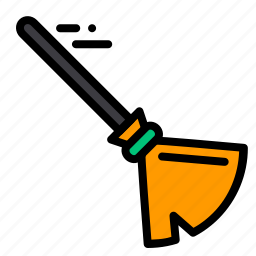 broom, flow, halloween, magic, scary, wind, witch icon