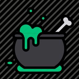 cauldron, halloween, magic, poison, pot, potion, withcraft icon