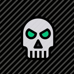 bone, evil, ghost, halloween, scary, skull icon