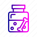 bone, bottle, fairy, halloween, poison, potion, tale icon