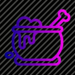 bone, cauldron, halloween, magic, pot, potion, withcraft icon