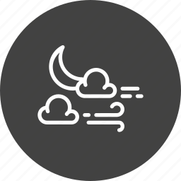 cloud, halloween, moon, night, star, weather, wind icon