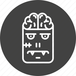 brain, character, frankenstein, halloween, horror, monster, zombie icon