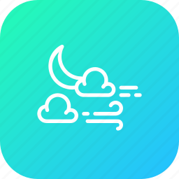 cloud, halloween, moon, night, star, weather, wind icon