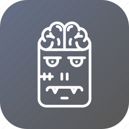 brain, character, frankenstein, halloween, horror, monster, zombie icon