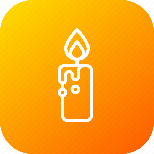 candle, darkness, halloween, light, wax icon