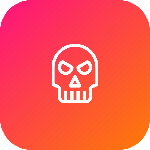 bone, evil, ghost, halloween, scary, skull icon