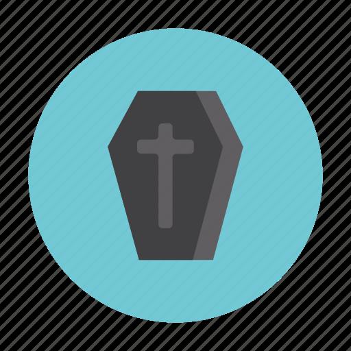 coffin, ghost, hallowen, horror, night, treat icon