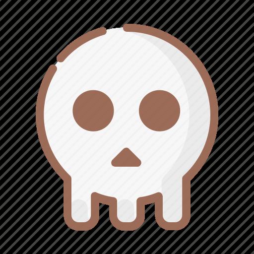 halloween, horror, skull icon