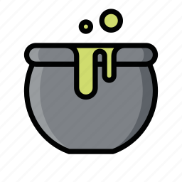 cauldron, ghost, halloween, horror, scary, witch icon