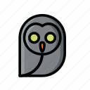 dead, evil, halloween, horror, owl, scary, skull icon
