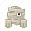 dead, ghost, halloween, horror, monster, mummy, sacry icon