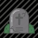 dead, grave, halloween, horror, monster, r.i.p, rip icon