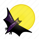 bat, evil, halloween, horror, monster, night, sacry icon
