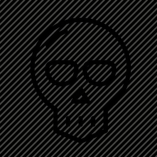 dead, death, funeral, halloween, skull icon