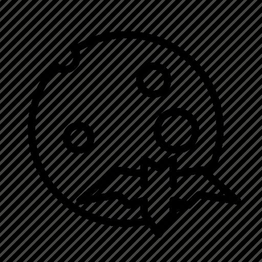 bat, dead, death, funeral, halloween, moon icon