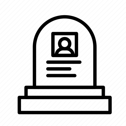 dead, death, funeral, halloween icon