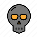 dead, death, funeral, halloween, skull icon