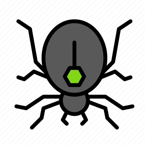 dead, death, funeral, halloween, spider icon