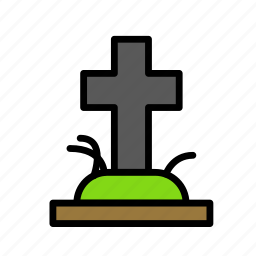 dead, death, funeral, halloween, tomb icon