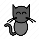cat, dead, death, funeral, halloween icon