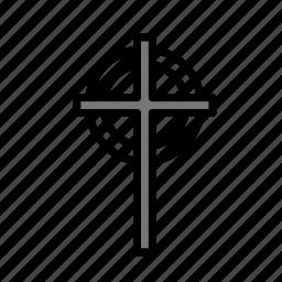 cross, dead, death, funeral, halloween icon