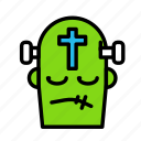 cross, dead, death, frankeistein, funeral, halloween icon