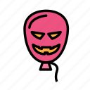 baloon, dead, death, funeral, halloween, monster icon