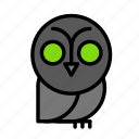 dead, death, funeral, halloween, owl2 icon