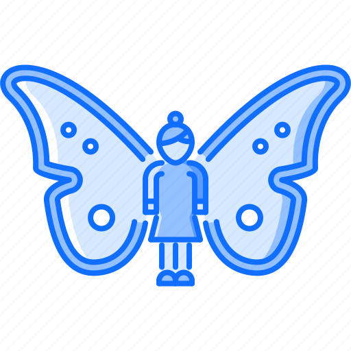 fairy, fantasy, halloween, legend, magic, story, wing icon
