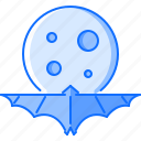 bat, fantasy, halloween, legend, moon, night, story icon