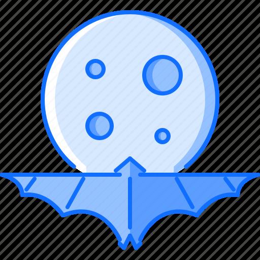 bat, fantasy, halloween, legend, moon, night, story icon