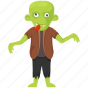 creepy adult, creepy zombie, halloween character, halloween costume, stagger, zombie icon