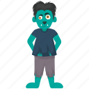cartoon boy, halloween animal, halloween costume, halloween makeup, werewolf icon