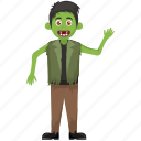 dead man zombie, green cartoon, halloween character, halloween costume, maneater icon