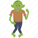 goblin monster, green monster, halloween character, monster shrek, zombie apocalypse icon
